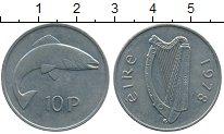 Изображение Дешевые монеты Ирландия 10 пенсов 1978 Медно-никель XF