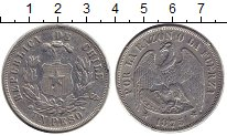 Изображение Монеты Чили 1 песо 1875 Серебро VF