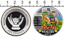 Изображение Монеты Конго 240 франков 2014 Серебро Proof
