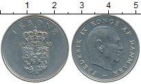 Изображение Дешевые монеты Дания 1 крона 1963 Медно-никель XF