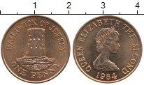 Изображение Дешевые монеты Остров Джерси 1 пенни 1984 Медь XF