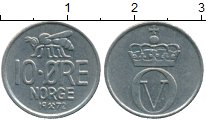 Изображение Дешевые монеты Норвегия 10 эре 1972 Медно-никель XF