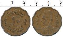 Изображение Дешевые монеты Египет 10 миллим 1938 Медь VF+