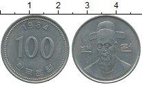 Изображение Дешевые монеты Южная Корея 100 вон 1984 Медно-никель XF