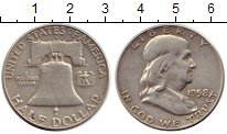 Изображение Монеты США 1/2 доллара 1958 Серебро XF-