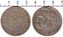 Изображение Монеты Польша 10 злотых 1935 Серебро XF- Юзеф Пилсудский