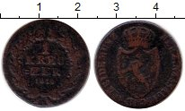 Изображение Монеты Германия Нассау 1 крейцер 1810 Медь VF