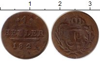 Изображение Монеты Германия Саксен-Хильдбургхаузен 1 геллер 1821 Медь VF