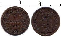 Изображение Монеты Германия Гессен-Дармштадт 1 крейцер 1864 Медь VF