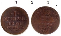Изображение Монеты Германия Саксе-Мейнинген 1 пфенниг 1821 Медь VF