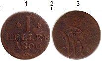 Изображение Монеты Гессен-Кассель 1 геллер 1800 Медь VF