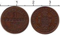 Изображение Монеты Саксония 1 пфенниг 1863 Медь XF