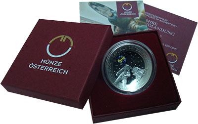 Изображение Монеты Австрия 20 евро 2019 Серебро Proof 50-ЛЕТИЕ ЛУННОЙ ПОСА
