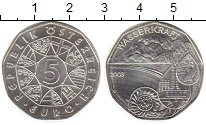 Изображение Монеты Австрия 5 евро 2003 Серебро UNC Сила воды. Плотина с