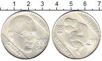 Изображение Монеты Словакия 200 крон 1995 Серебро UNC 100 лет со дня рожде