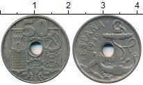 Изображение Дешевые монеты Испания 50 сентим 1949 Медно-никель XF