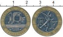 Изображение Дешевые монеты Франция 10 франков 1988 Биметалл XF