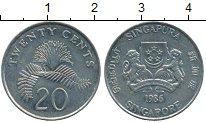 Изображение Дешевые монеты Азия Сингапур 20 центов 1986 Медно-никель XF