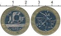 Изображение Дешевые монеты Франция 10 франков 1989 Биметалл XF