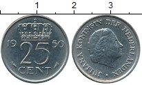 Изображение Дешевые монеты Нидерланды 25 центов 1950 Медно-никель XF