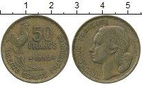 Изображение Дешевые монеты Франция 50 франков 1952 Латунь XF