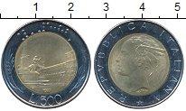 Изображение Дешевые монеты Италия 500 лир 1982 Биметалл XF+
