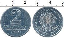 Изображение Дешевые монеты Бразилия 2 крузейро 1960 Алюминий XF