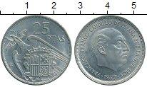Изображение Дешевые монеты Испания 25 песет 1957 Медно-никель XF+