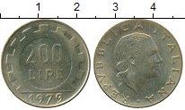 Изображение Дешевые монеты Италия 200 лир 1979 Латунь XF