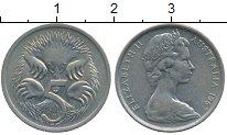Изображение Дешевые монеты Австралия 5 центов 1967 Медно-никель XF