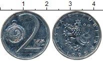 Изображение Дешевые монеты Чехия 2 кроны 1993 Медно-никель XF