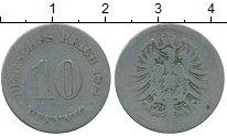 Изображение Дешевые монеты Германия 10 пфеннигов 1874 Медно-никель VF-