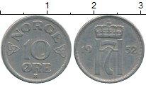 Изображение Дешевые монеты Норвегия 10 эре 1952 Медно-никель XF