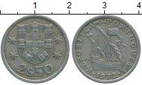 Изображение Дешевые монеты Португалия 2 1/2 эскудо 1972 Медно-никель XF