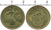 Изображение Дешевые монеты Сейшелы 10 центов 1997 Латунь XF