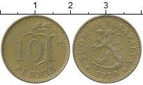 Изображение Дешевые монеты Финляндия 10 пенни 1970 Бронза XF