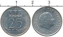 Изображение Дешевые монеты Нидерланды 25 центов 1955 Медно-никель XF