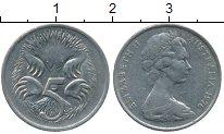 Изображение Дешевые монеты Австралия 5 центов 1976 Медно-никель XF