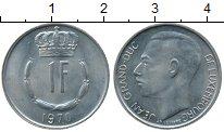 Изображение Дешевые монеты Люксембург 1 франков 1970 Медно-никель XF+