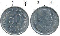 Изображение Дешевые монеты Аргентина 50 сентаво 1956 Сталь покрытая никелем XF