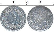 Изображение Монеты Германия 1/2 марки 1915 Серебро XF A