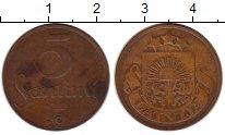 Изображение Монеты Латвия 5 сантим 1922 Бронза VF