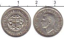 Изображение Монеты Великобритания 3 пенса 1940 Серебро VF Георг VI