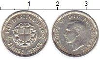 Изображение Монеты Великобритания 3 пенса 1940 Серебро XF Георг VI