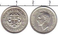 Изображение Монеты Великобритания 3 пенса 1940 Серебро XF