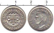 Изображение Монеты Великобритания 3 пенса 1941 Серебро XF Георг VI