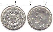 Изображение Монеты Великобритания 3 пенса 1939 Серебро XF Георг VI