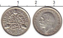 Изображение Монеты Великобритания 3 пенса 1932 Серебро XF Георг V
