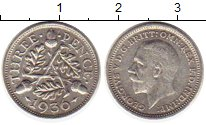 Изображение Монеты Великобритания 3 пенса 1936 Серебро XF