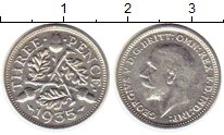 Изображение Монеты Великобритания 3 пенса 1935 Серебро XF